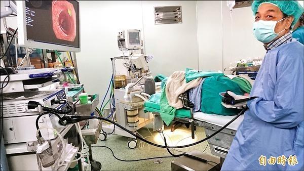 國健署指出,大腸鏡可確定腸道有無癌症腫瘤。(資料照)