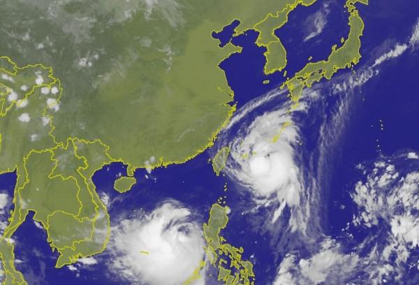 泰利衛星雲圖。(圖取自氣象局)