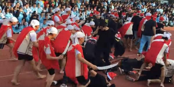 新竹市私立光復中學既納粹爭議後,又被爆校慶當天有班級cosplay霧社事件。(圖擷自YouTube)
