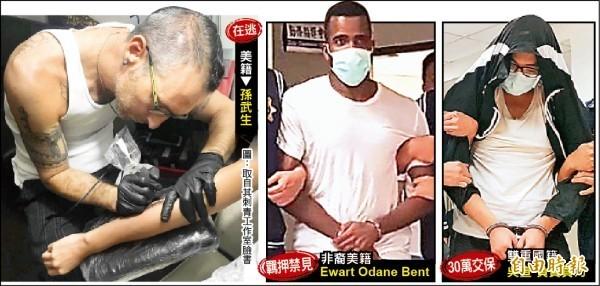 涉及永和分屍案的美籍刺青師孫武生(左)潛逃菲律賓。(資料照)
