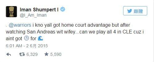 NBA》尚波特「地震觀察」 向勇士喊話改賽場