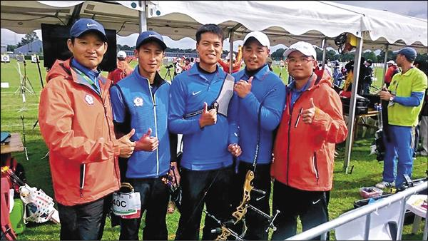 台灣射箭男團 搶下奧運門票