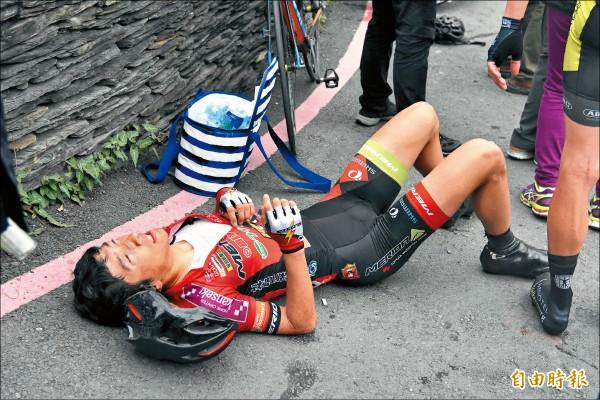 環台賽╱地獄級爬坡 車手累慘