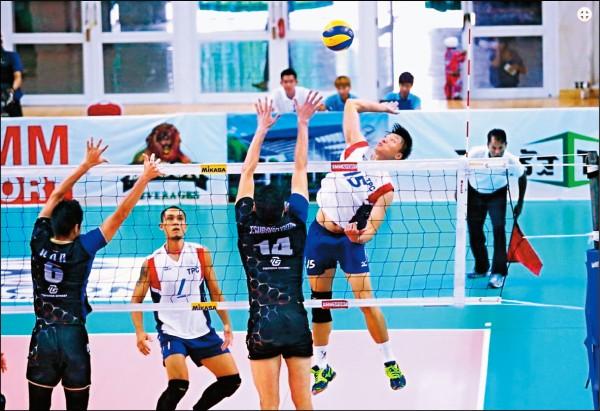 亞俱男排賽》險勝日本 台灣分組第一
