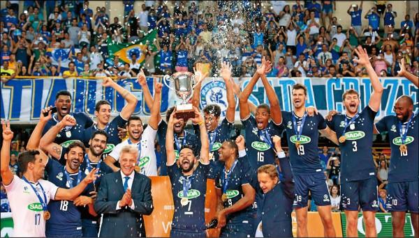 世俱男排賽 巴西奪第3冠