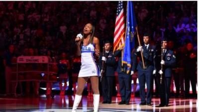 NBA》黑人女歌手唱國歌被取消 七六人作法惹議