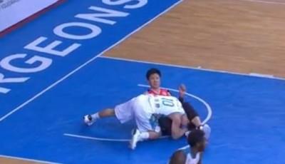 CBA》胡瓏貿遭剪刀腳夾頭 竟有中國球迷稱他打球髒(影音)