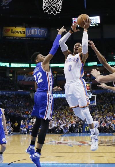 NBA》魏少單季35度大三元 雷霆對七六人跨季16連勝