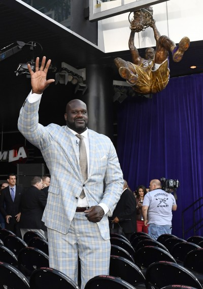 NBA》歐尼爾揭幕儀式 Kobe、禪師齊祝賀