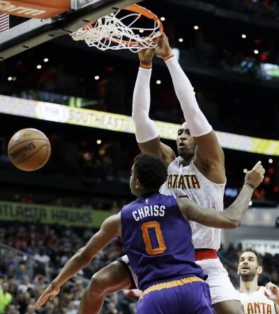 NBA》老鷹甩七連敗陰霾 主場擊退太陽