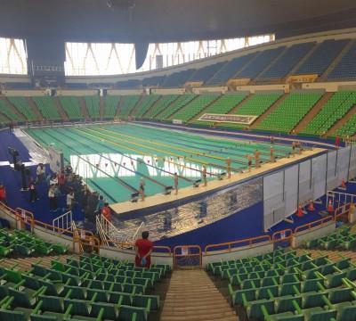 世大運「活動式游泳池」啟用 體育館直接變成泳池