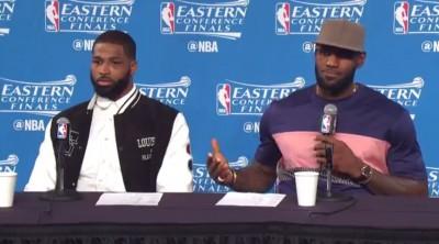 NBA》記者提問讓詹皇不悅 「輸球才來問我?」(影音)