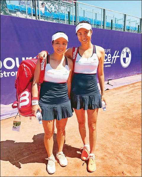 法國史特拉斯堡紅土女網賽》直落二橫掃對手 雙詹晉級拚冠