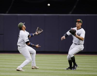 MLB》隊友手滑變助攻 法官機靈完成「4-9」接殺美技(影音)