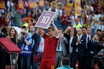 義甲》AS羅馬逆轉熱那亞 7萬球迷送別老將托提