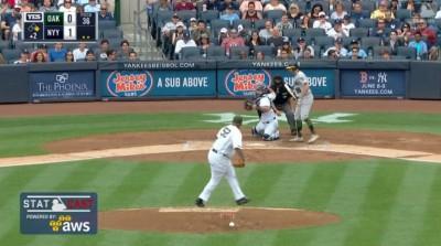 MLB》跪在地上傳球 洋基鐵捕飆最速阻殺(影音)