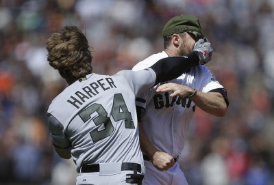 MLB》哈波與巨人幹架 3個畫面美媒熱議(影音)