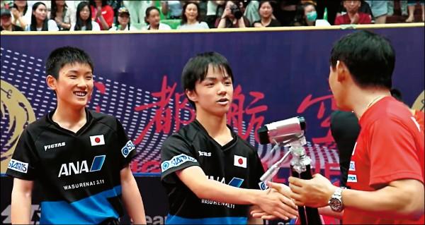 中國桌球公開賽》我女雙不敵南韓 日怪物少年欺中