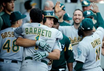 MLB》史無前例! 運動家三菜鳥生涯首轟同場出爐(影音)