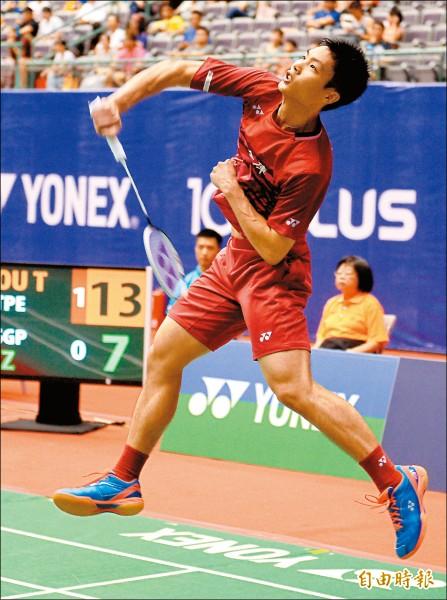 台北羽球公開賽》周天成連莊路 差點毀在不專注