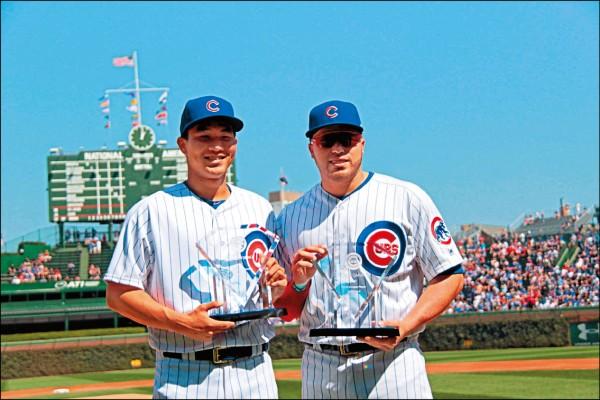 MLB》大聯盟初登板後 曾仁和領獎