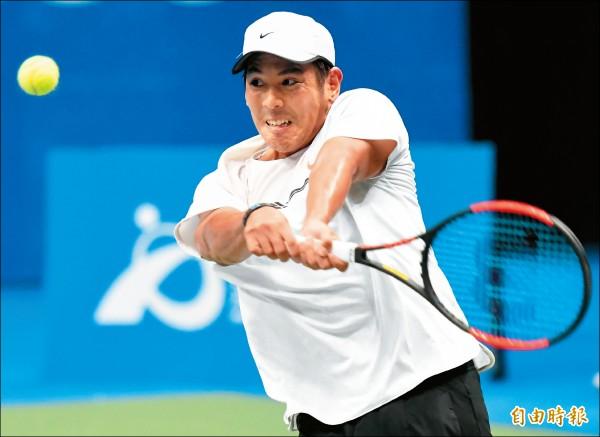 海碩盃男網賽》強轟10記愛司 楊宗樺單打挺進16強