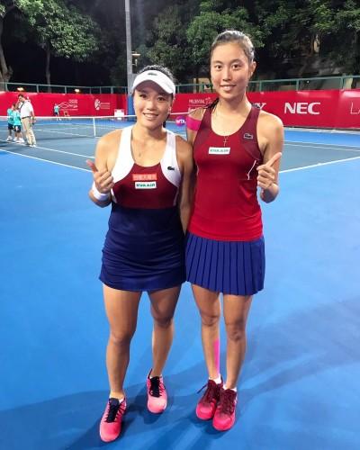 網球》詹家姊妹香港女網晉8 開胡邁出衛冕第一步