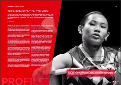 羽球》戴球后登丹麥雜誌 「來自台灣的神奇女孩」