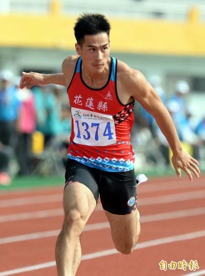 全運會》楊俊瀚男子百米決賽10秒29 締造二連霸僅打70分(影音)