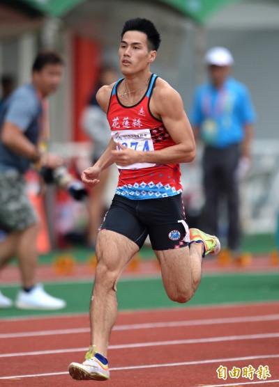 全運會》3金全數入袋!「台灣最速男」楊俊瀚200公尺20秒56摘金