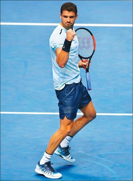 ATP年終賽》迪米特洛夫晉4 保加利亞第一人