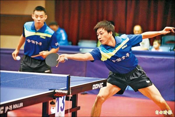 全國桌球錦標賽》搭檔陳建安 「新手爸」江宏傑奪冠