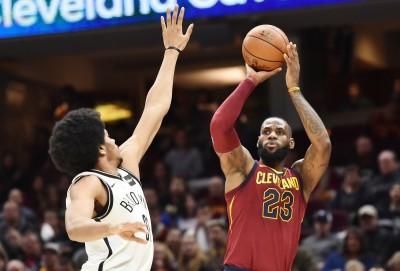 NBA》詹皇親征末節砍23分 騎士射破籃網奪6連勝