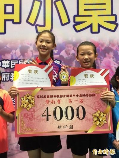 虎尾安慶國小大贏家 抱回全國桌球錦標賽雙冠王