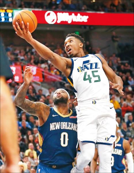 NBA》爵士菜鳥米契爾 轟41分助勝