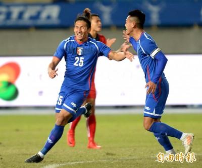 足球》超狂箭頭!李茂上半場「梅開二度」 助台灣2:0寮國