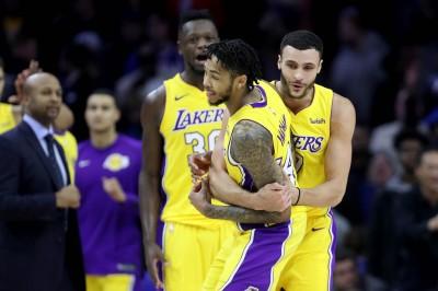 NBA》英葛蘭準三分絕殺 湖人賞七六人二連敗