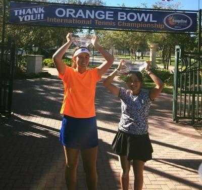 網球》台、英混血葛藍喬安娜攻頂 橘子盃青少女雙首封后