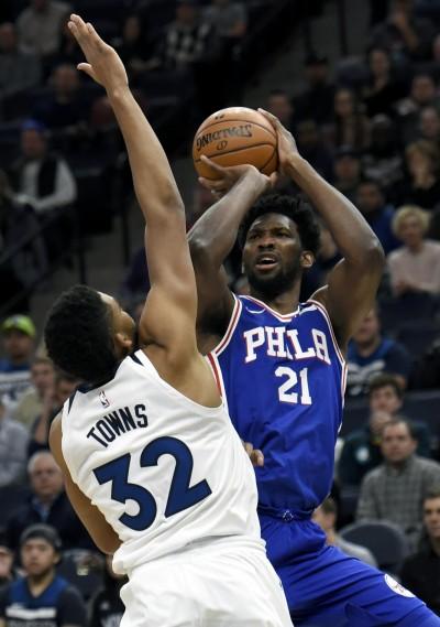 NBA》巴特勒轟38分無用 恩比德率七六人屠狼止4連敗(影音)