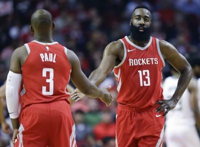 NBA》哈登、保羅合飆61分捕鹿 火箭13連勝近十年最長(影音)