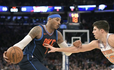 NBA》安東尼「回娘家」只拿12分 雷霆不敵尼克