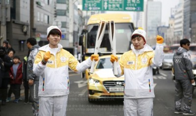 電競》韓電競戰隊KT現身聖火傳遞 祈求2018平昌冬奧成功