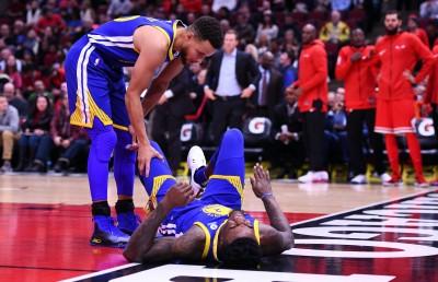NBA》才上場24秒 勇士新秀腳踝受傷退場(影音)