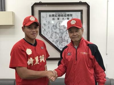 棒球》上月宣布退休 增菘瑋加入綺麗珊瑚擔任教練