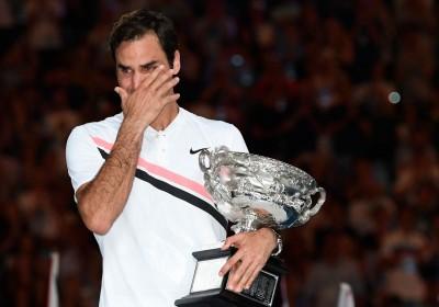 澳網》大滿貫20冠!費爸落下英雄淚 全世界球迷都感動了
