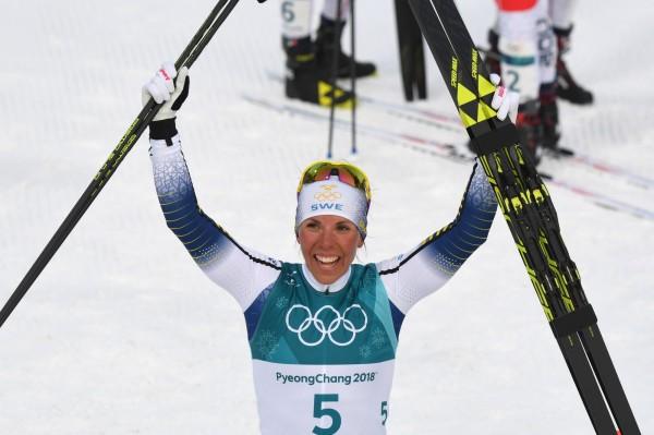 平昌冬奧首面金牌出現! 瑞典女將越野滑雪摘金