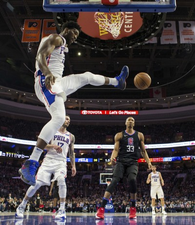 NBA》恩比德29分16籃板 七六人斷快艇3連勝