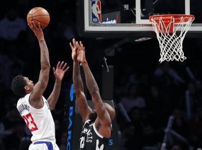 NBA》7人得分上雙 快艇送籃網5連敗