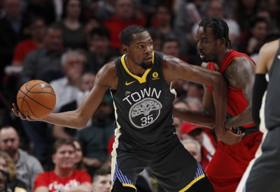 NBA》杜蘭特50分成空 勇士不敵拓荒者龍頭換人當