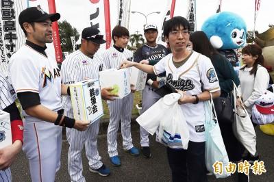 棒球》羅德、桃猿攜手為花蓮募款 「假一朗」也來幫忙